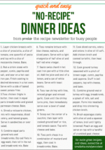 """Need dinner on the table and fast? Here are 14 proven """"non-recipe"""" ideas to get you cooking."""