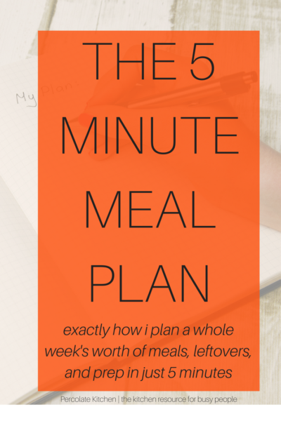 How I create my '5 minute meal plan' each week, using a super simple system! Once you have it set up, you won't believe how easy it is to use.