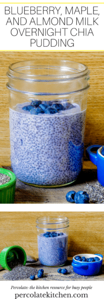 This Blueberry, Maple, and Almond Milk Overnight Chia Pudding is lactose-free and the perfect quick, grab-and-go breakfast for hot summer mornings!