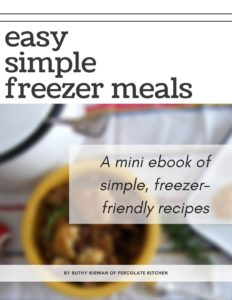 Easy Simple Freezer Meals - a FREE eBook