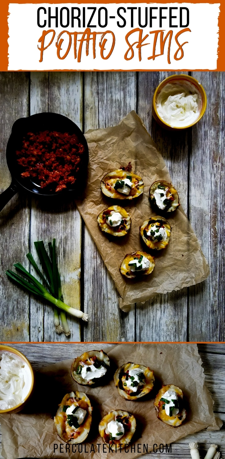 Love the spicy chorizo in these! We served them at a tailgating party and they were really easy and a total hit.  Good party appetizer and super simple, just different enough from the usual!