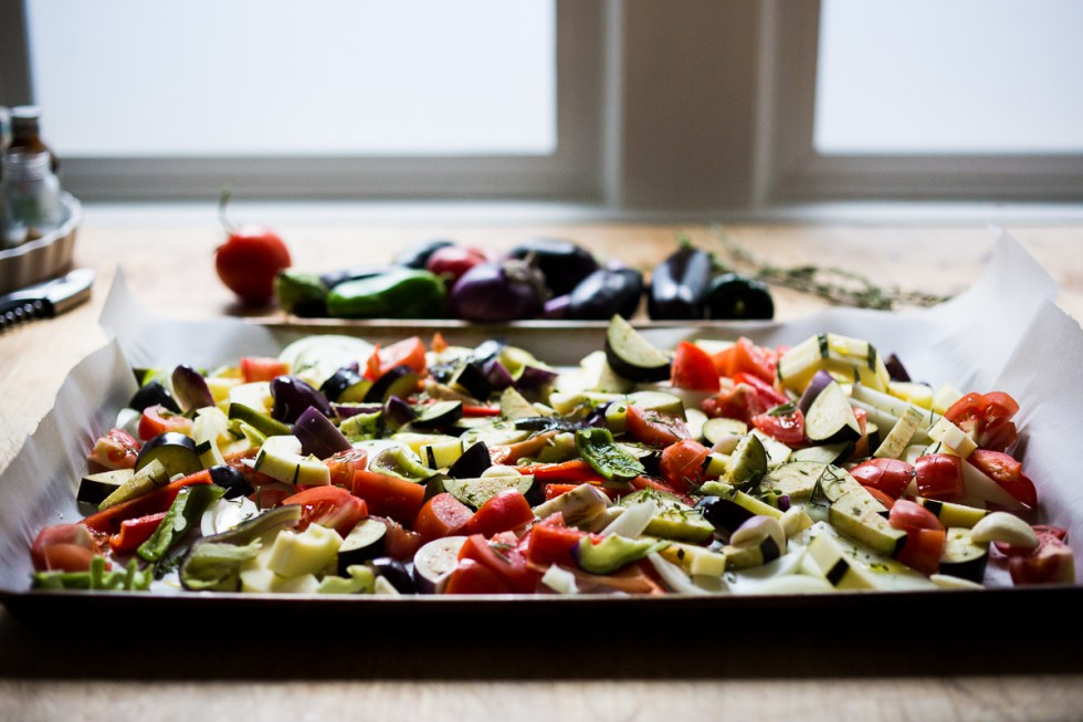 17 Easy Sheet Pan Dinners for Busy Nights (Ratatouille from Feasting At Home)