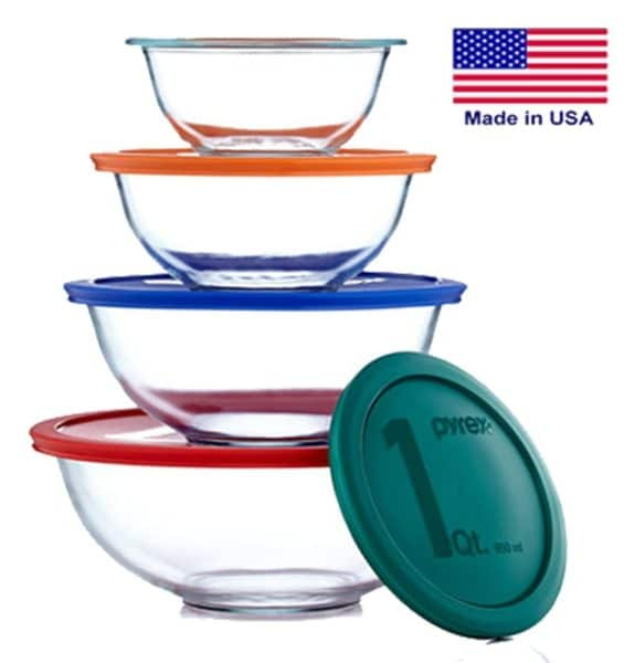 Pyrex Stacking Mixing Bowl Set