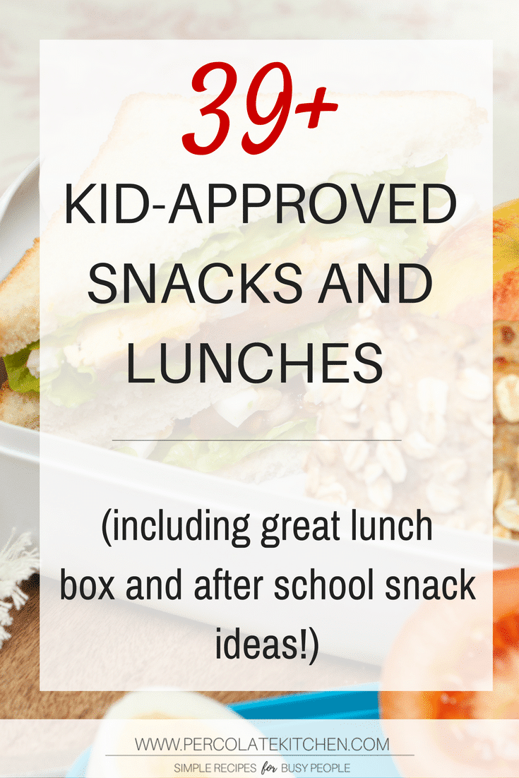 This is a HUGE list of all things lunch box and after school snack ideas! Vetted by kids, healthy(ish!), and a wide range for all allergy or dietary needs.