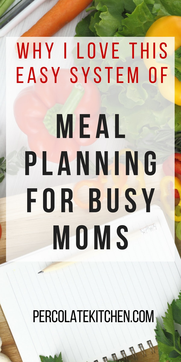 This easy system of meal planning for busy moms is so simple, you might be surprised at how effective it is! It starts with making a plan- and then sticking to it.