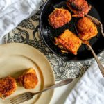 Crispy Spanish Rice 'Arancini' is spicy Spanish rice studded with melty cheese and coasted in crispy breadcrumbs; make this simple appetizer recipe for a party this holiday season- or any time of the year!