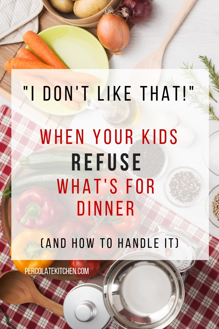 """I Don't Like That!"" When Your Kids Refuse What's For Dinner"