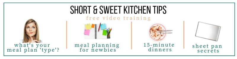 Short Sweet Kitchen Tips FREE Video Training Series