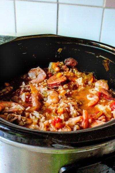 Slow Cooker Jambalaya, Crockpot Jambalaya