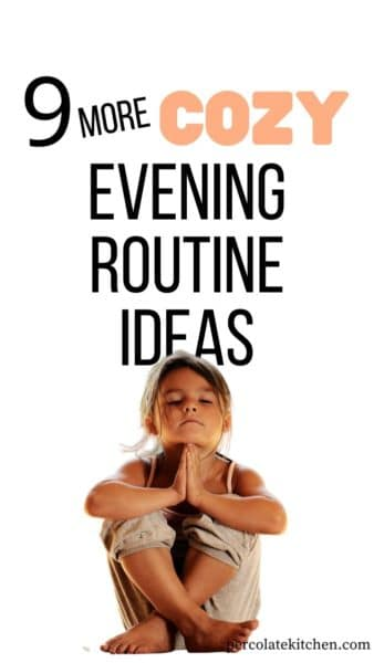 Simple ideas to incorporate into your evening routine! Here's 9 (more!) mellow activities to help you and your kids chill out and wind down.