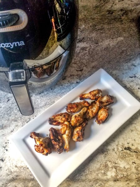 Crispy Air Fryer Chicken Wings With Citrus-Garlic Marinade